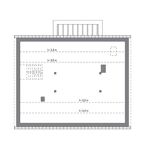 Wyjątkowy - M241 - Rzut poddasza do indywidualnej adaptacji (92,6 m2 powierzchni użytkowej)