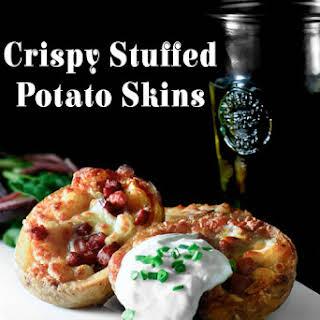 Crispy Stuffed Potato Skins.