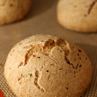 Quick & Easy Wheat Rolls with Garlic Herb Butter