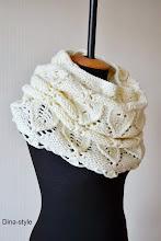 Photo: женский шарф-снуд (хомут) повтор модели Молоко в 2 нити