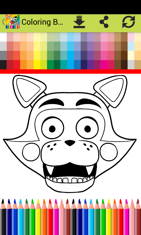Fnaf 3 Colouring Pictures : Coloring book fnaf world fans android apps on google play