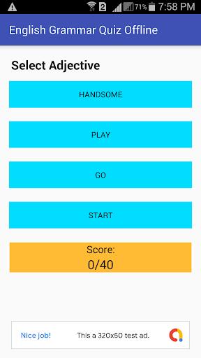 english grammar test offline by ict team (Google Play, Japan