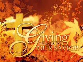 Photo: Giving THANKS TO OUR SAVIOR. Image CROSS