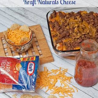 Taco Casserole with Kraft Natural Cheese.