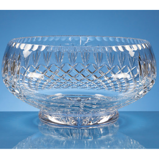 Engraved Lead Crystal Bowls and Vases