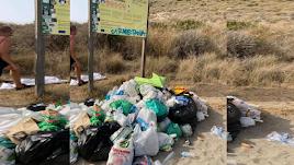 Imagen compartida por Silvia Herrera en el grupo de Facebook Amigos de las playas de Almería.