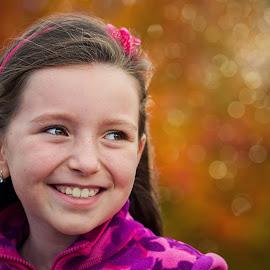 Smile by Jiri Cetkovsky - Babies & Children Child Portraits ( girl, exterior, smile, automn, portrait )