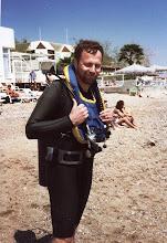 Photo: 1989 - Lasse valmistautumassa introsukellukseen