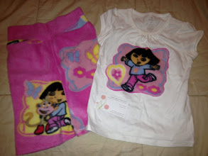 Photo: Brand New, Never washed, Never Worn Dora the Explorer Set. Daughter PL'd before we used. $18 by Ala Mode Equivelent of a 2T-3T. Shirt is a 3T