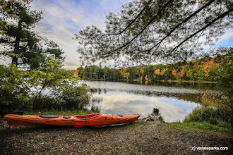 Photo: A beautiful fall day to kayak at Half Moon Pond State Park by Bob Ricketson