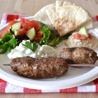 Ground Turkey Kefta Kabobs & Tzatziki Sauce