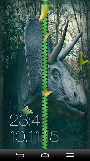 恐龙 拉链锁屏