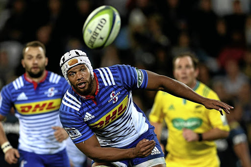 Right track: Nizaam Carr in the match between the Highlanders and the Stormers in Dunedin in April. Picture: GETTY IMAGES