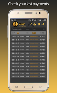 Zcash Flypool Mining Monitor- screenshot thumbnail