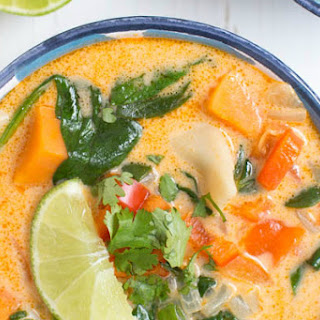 Thai Coconut Soup Spinach Recipes