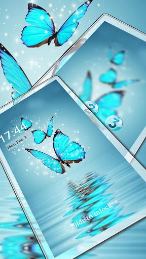 Butterfly blue gleam theme 1.1.3 screenshots 3