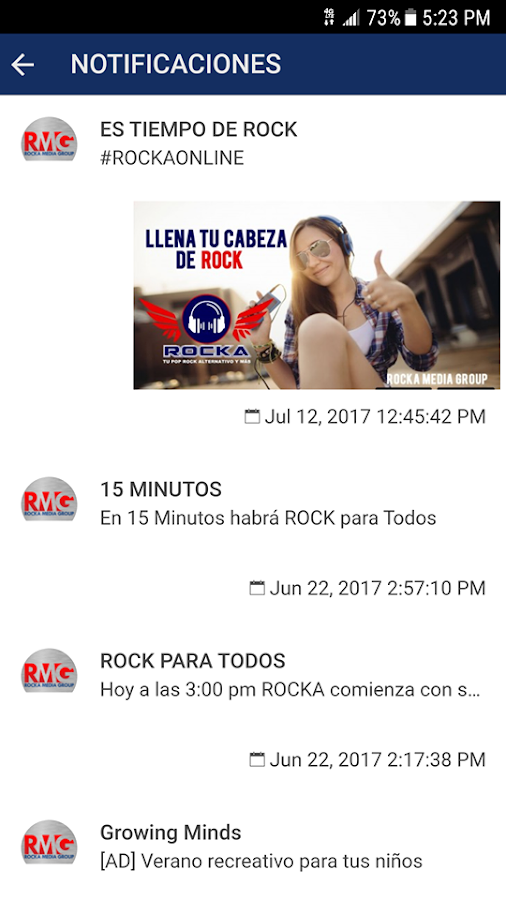 Rocka- screenshot