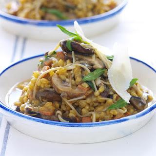 Barley Risotto with Mixed Mushrooms