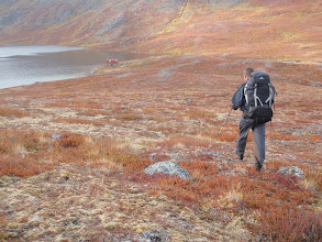 Photo: Greenland - Approaching the new hut at the end of Day 5