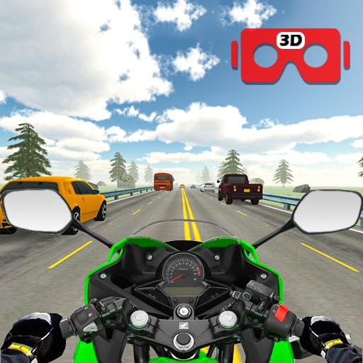 VR Highway Real Traffic Bike Racer 🏁
