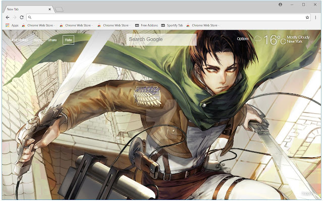 Or offer an animated snowfall, falling leaves, etc. Attack on Titan Levi HD Wallpapers New Tab | HD Wallpapers ...