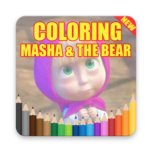 Coloring Masha and The Bear Offline masha screenshots 2