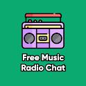 Radio music chat social network icon