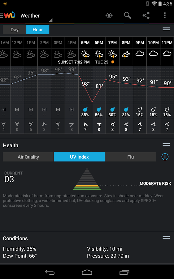 Weather Underground- screenshot
