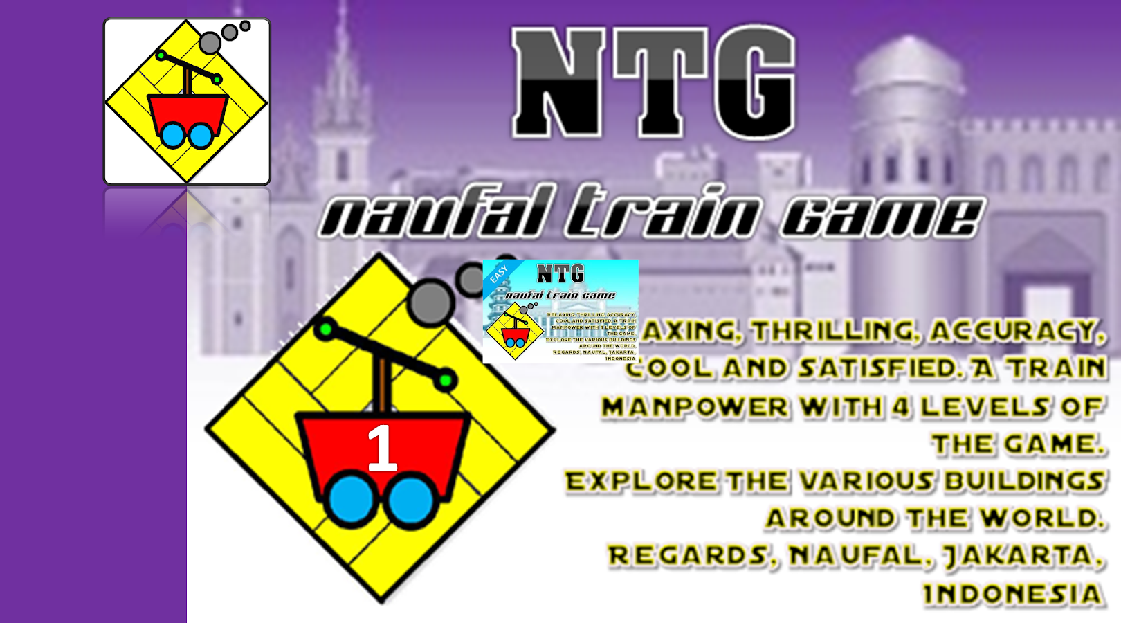Naufal Train Game - EASY Level- screenshot