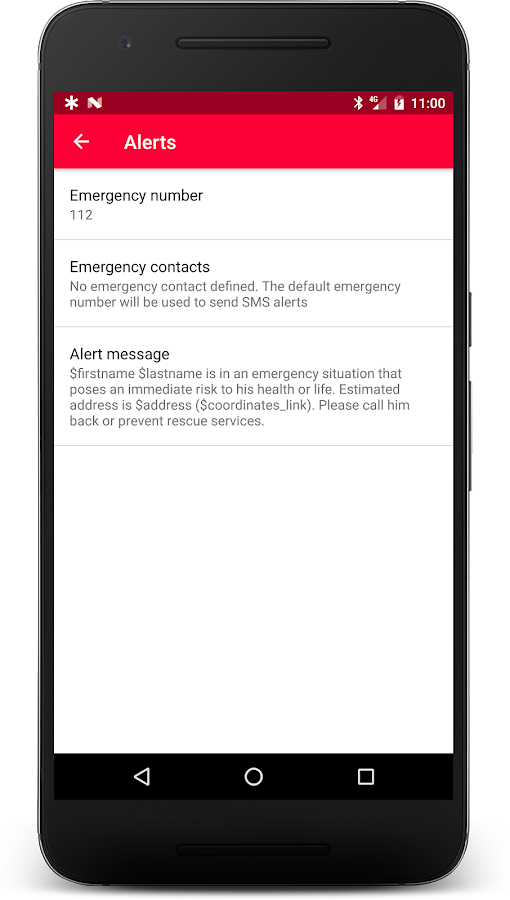 Medical ID - ICE contacts- screenshot