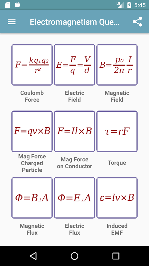 Electromagnetism Questions- screenshot