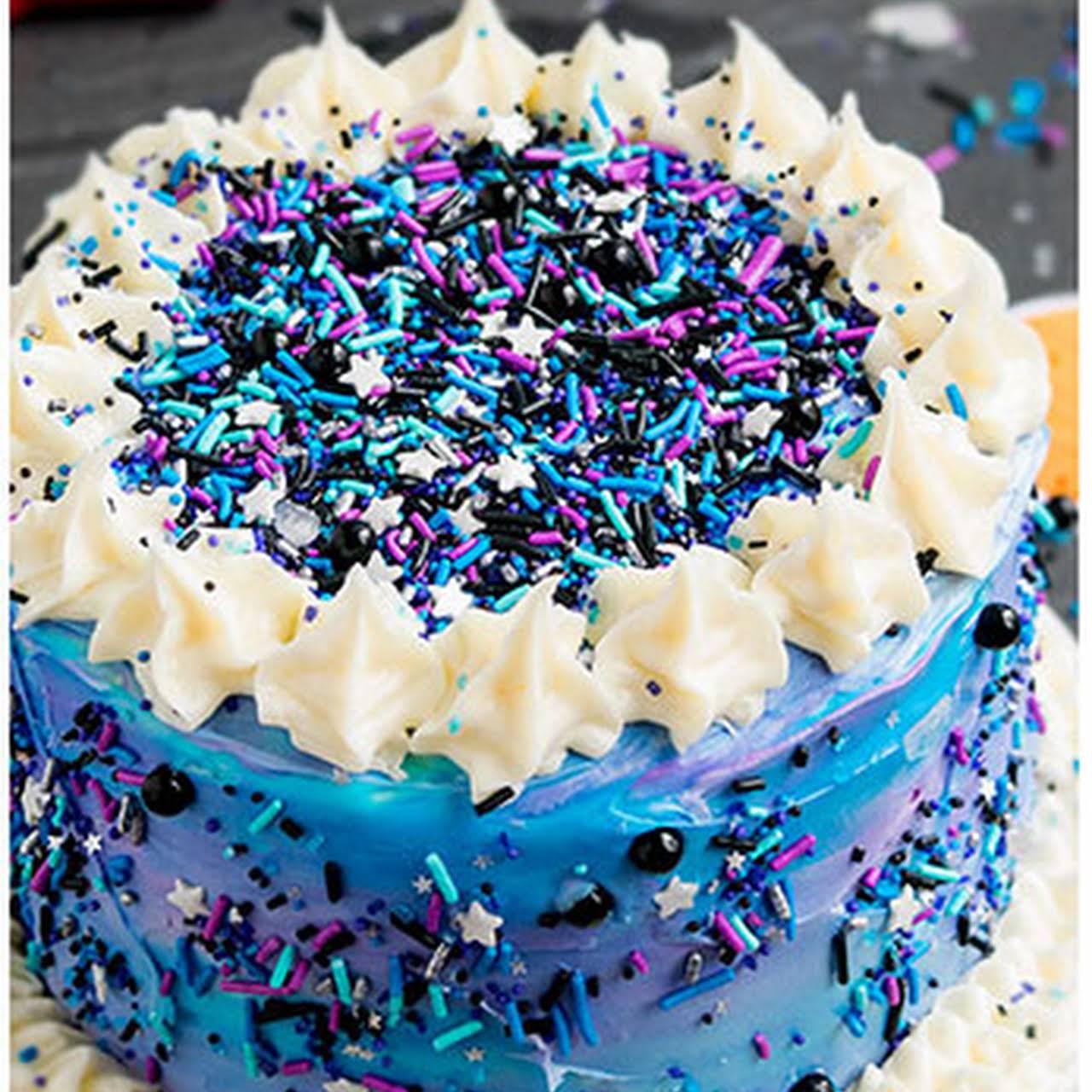 Easy Galaxy Cake