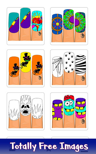 Halloween Nails Color by Number - Fashion Coloring 1.1 screenshots 1