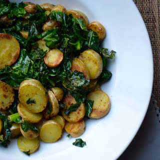 Garlicky Kale & Potatoes.