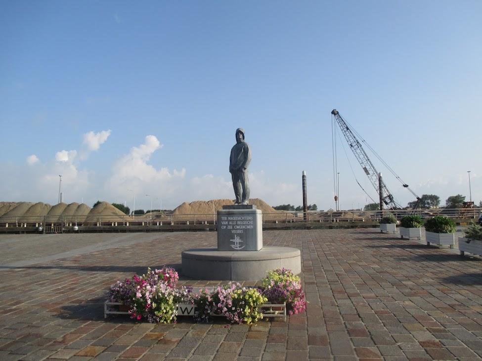 Vissersmonument in Nieuwpoort