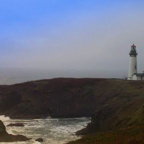 north head lighthouse, wa by Darrin McNett - Landscapes Waterscapes ( pacific coast, northhead, lighthouse,  )