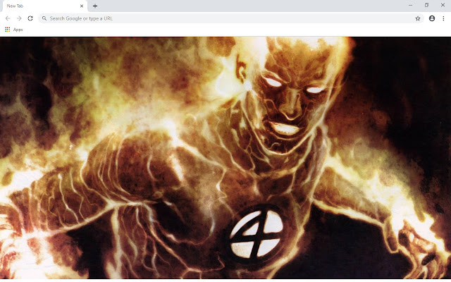 Human Torch New Tab & Wallpapers Collection