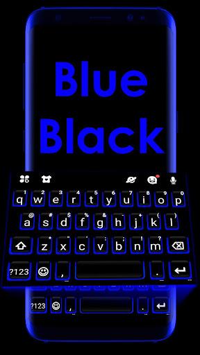 Blue Black Keyboard Theme 1.0 screenshots 1