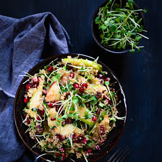 Quinoa Apple Pear Salad with Honey Mustard Dressing