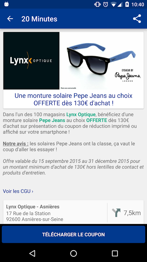 20 Minutes Bons Plans- screenshot