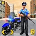 Police Moto Bike Chase Crime Shooting Games icon