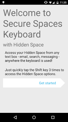android Secure Spaces Keyboard Screenshot 0