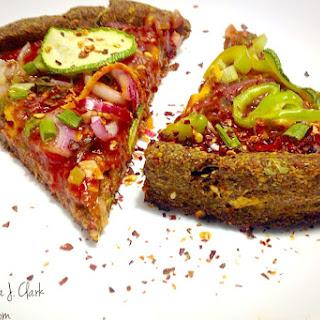 One Bowl Gluten-Free, Oil-Free Flax Meal Pizza Crust [Vegan].
