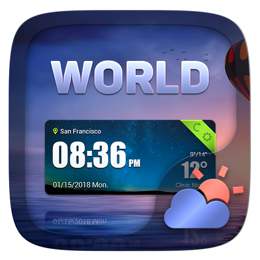 World GO Weather Widget Theme