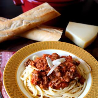Crock Pot Pasta Bolognese