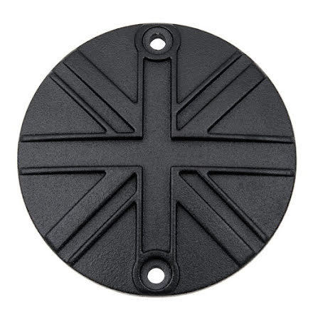 Clutch Badge - Union Jack - Black
