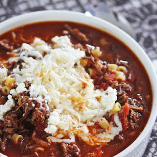 Cheesy Short Rib and Sausage Lasagna Soup