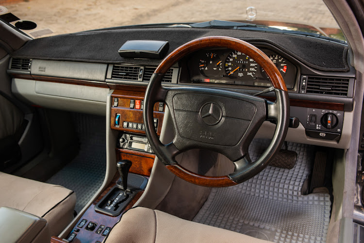 The Mercedes-Benz 220 CE interior was built to survive the apocalypse.