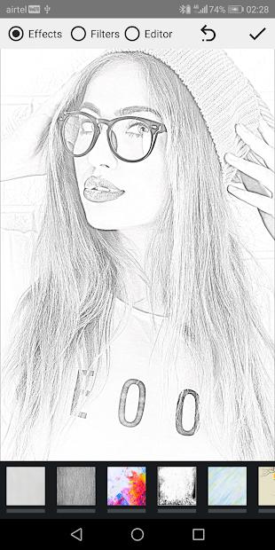 Pencil Photo Sketch-Sketching Drawing Photo Editor Android App Screenshot