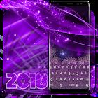 Purple Glitter Keyboard icon